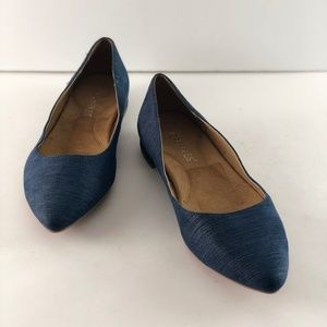 Aerosoles Hey Girl Fabric Blue Ankle-High Flat